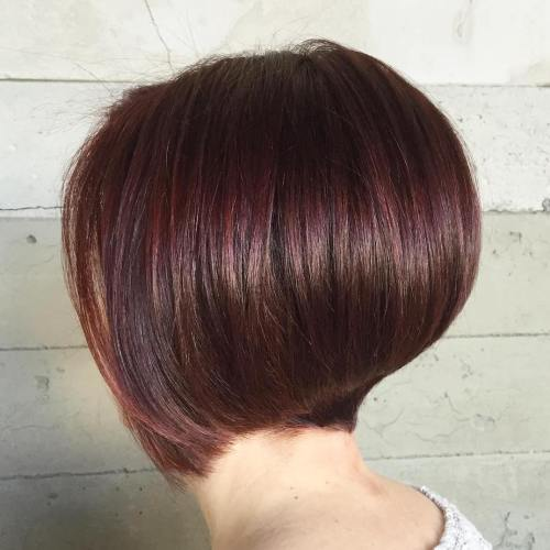 Short Stacked Mahogany Bob