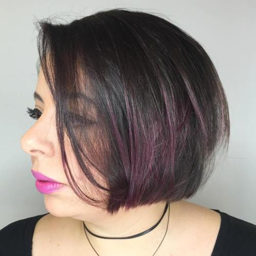 Short Bob For Round Faces