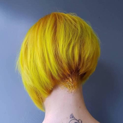 Yellow Stacked Bob