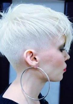 white blonde pixie with undercuts