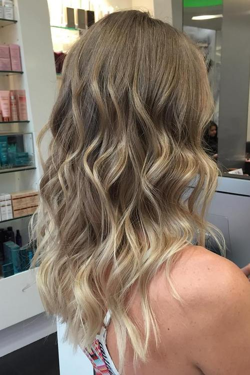 blonde balayage highlights for medium hair