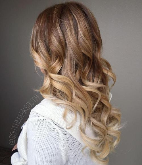 Caramel Blonde Balayage Hair