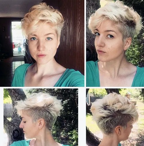 blonde pixie with undercut