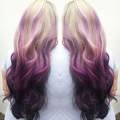Purple Ombre Hair Ideas Plum Lilac Lavender And Violet