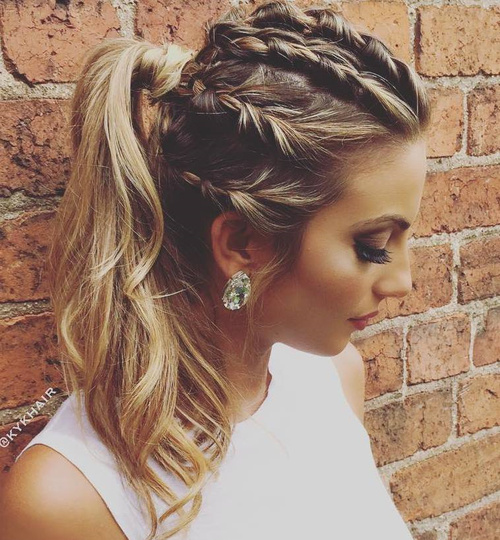 fantastic french braid ponytails