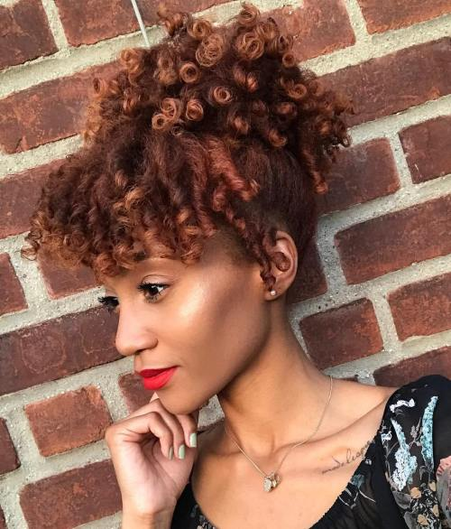 Short Natural Curly Ponytail