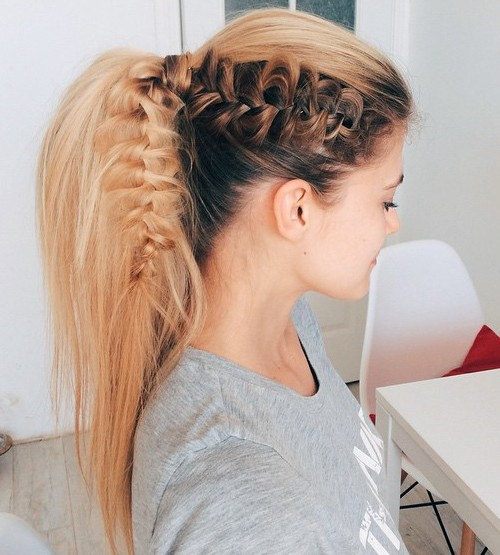 long hair ponytail styles 40 high ponytail ideas for every 3229 | 14 brown and blonde lacy braid