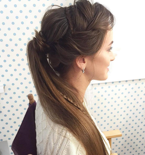 Creative Ponytail With Braids
