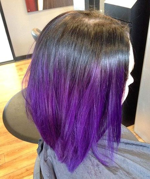 long bob with lavender ombre