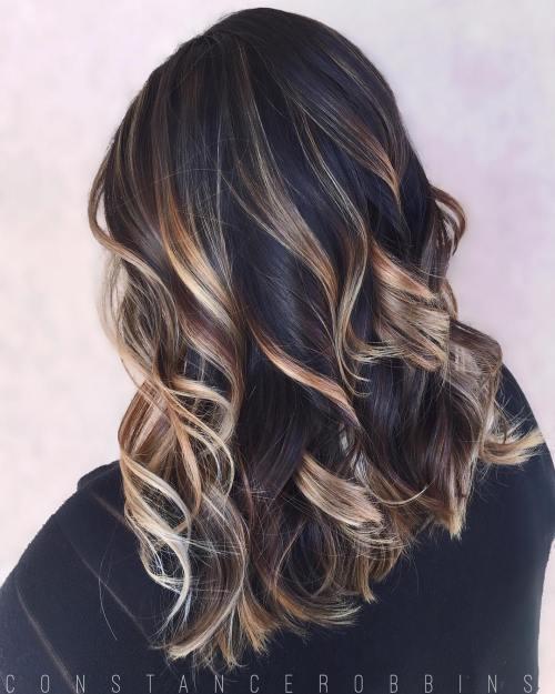 Blonde Balayage For Black Hair