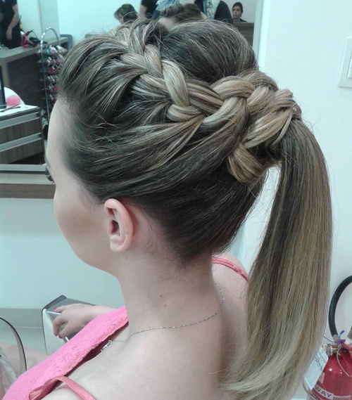 Crown Braid And Ponytail