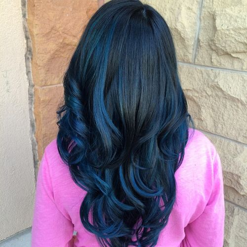 40 fairy like blue ombre hairstyles black hair with blue highlights pmusecretfo Images