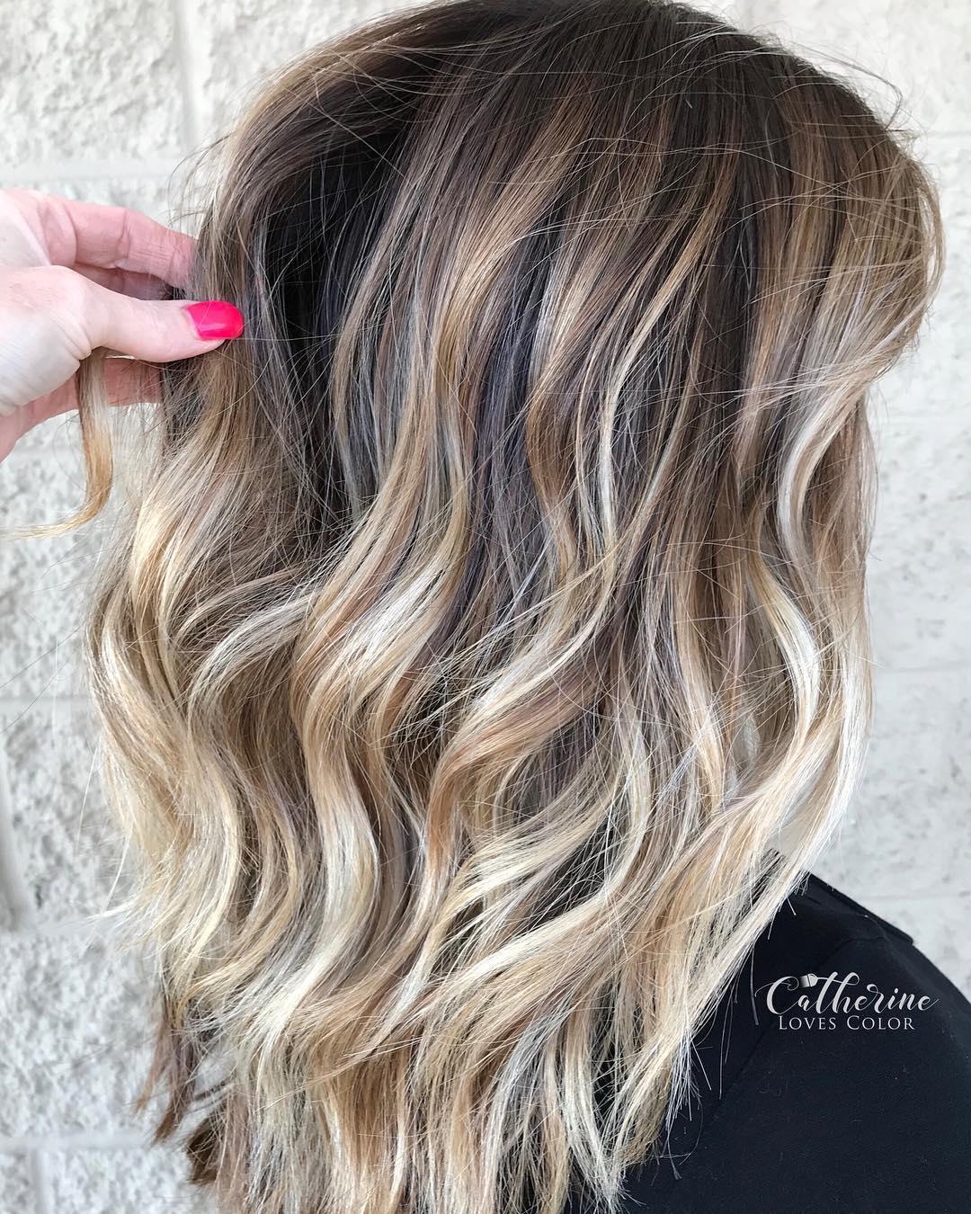 Balayage in long hair