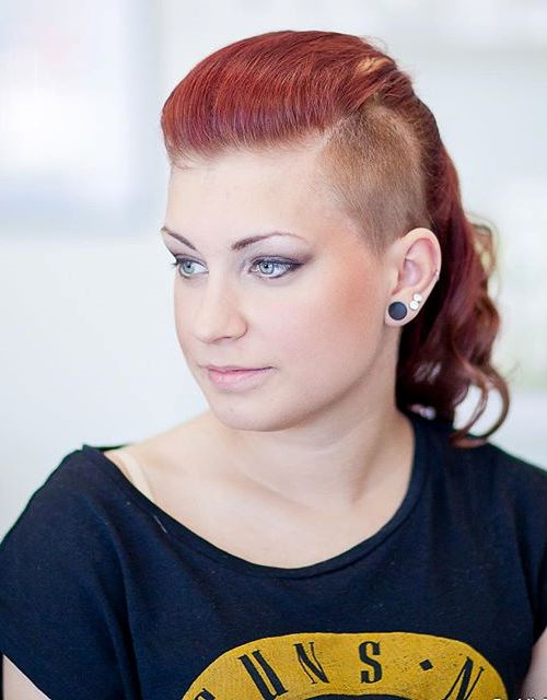 ponytail hairstyle with side undercut