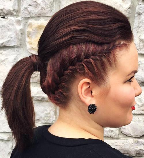 Surprising 30 Fantastic French Braid Ponytails Short Hairstyles Gunalazisus