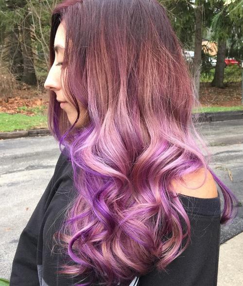 pastel lavender ombre hair