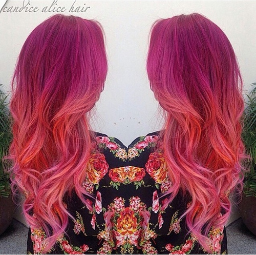 bright pink ombre