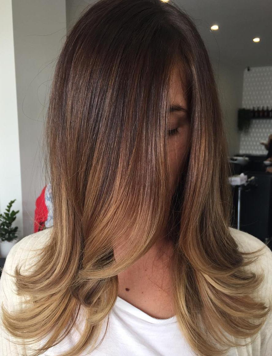 Brown To Caramel Ombre