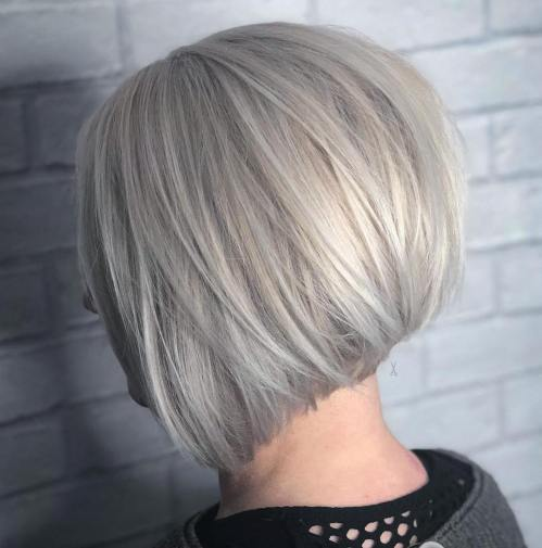 Inverted Silver Bob With Layers