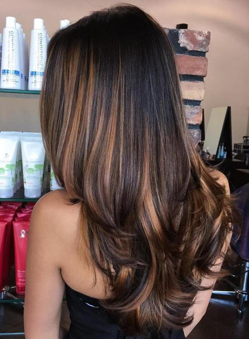 90 balayage hair color ideas with blonde brown and caramel highlights black hair with caramel brown balayage urmus Gallery