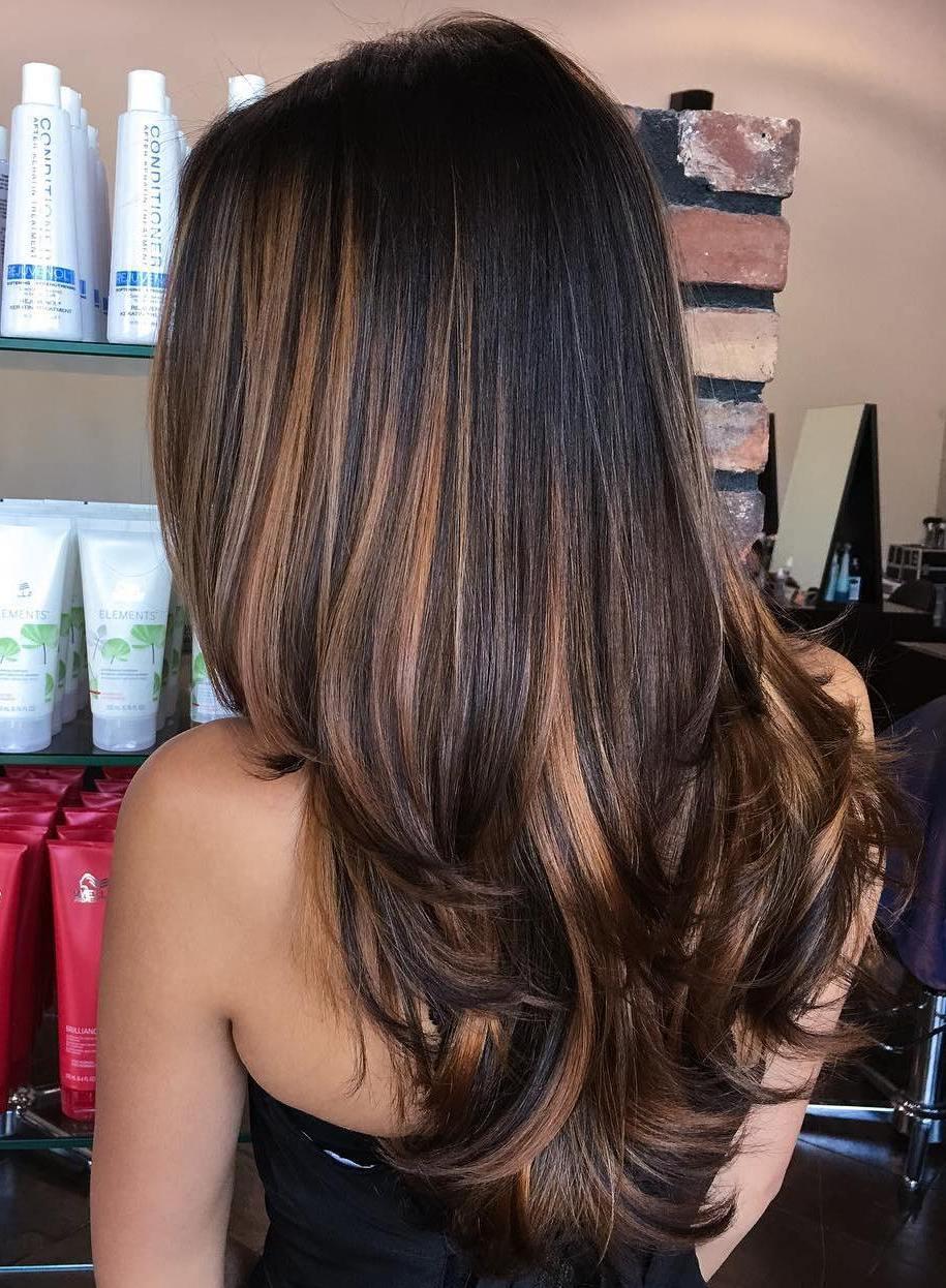 Balayage hair for black hair