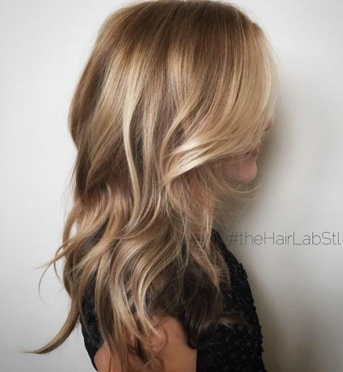 Light Brown And Golden Blonde Balayage Hair