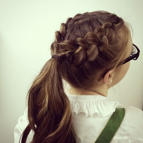 doubt Dutch braid into pony