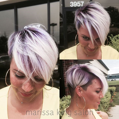 purple ombre for short hair