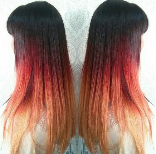 ombres lisses elegante cheveux beaute