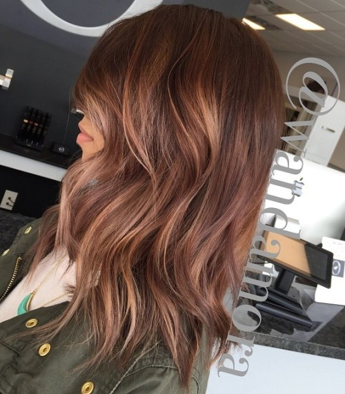 Rosewood Hair With Highlights