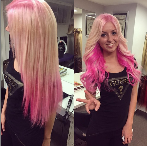 pink ombre for blonde hair