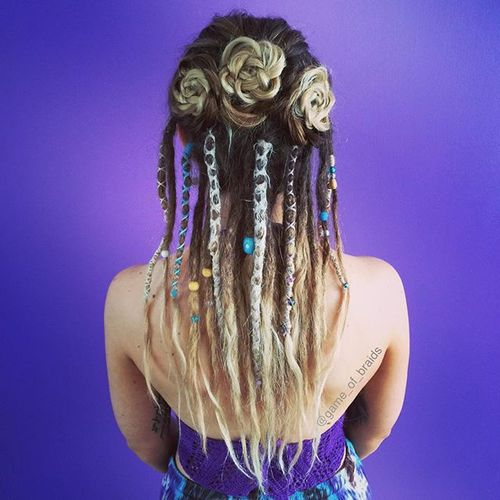 Sensational 20 Daring And Creative Hairstyles With Dreadlocks For Women Hairstyles For Women Draintrainus