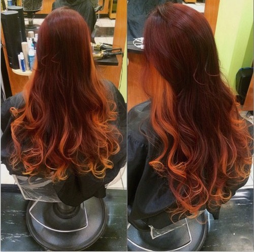 20 cute fall hair colors and highlights ideas reddish brown hair with light copper ends pmusecretfo Choice Image