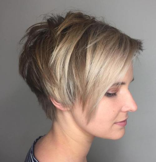 Choppy Side-Parted Pixie Bob