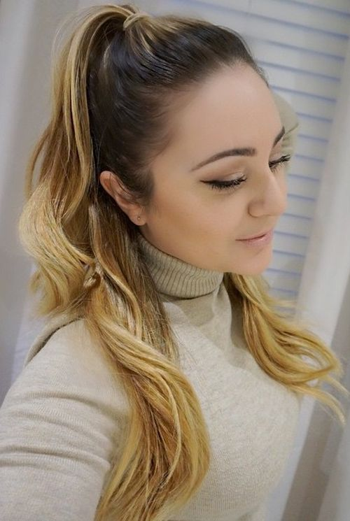 casual half pony hairstyle