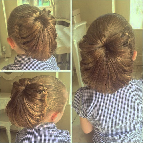 cute updo for girls