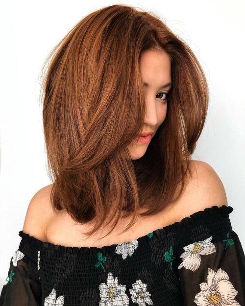 Natural Red Brown Hair
