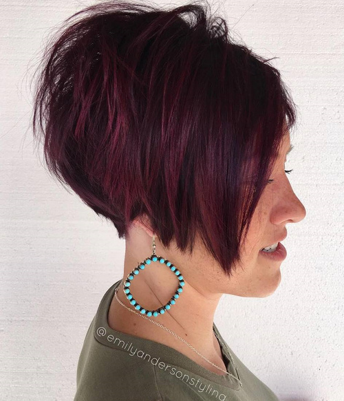 70 cool pixie cuts for 2017 short pixie hairstyles from classic short burgundy balayage bob urmus Gallery