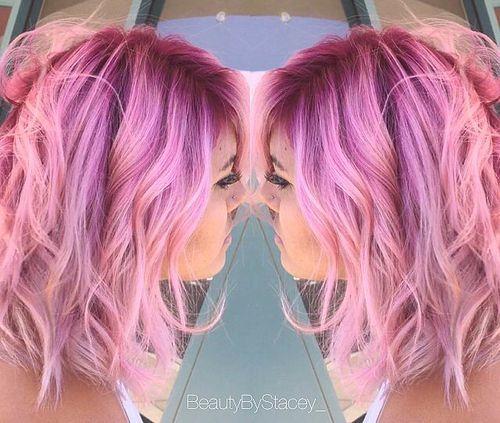 medium pastel pink ombre