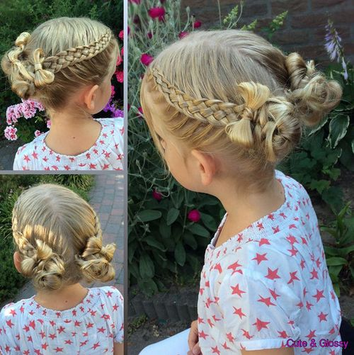 cute braided hairstyle for girls