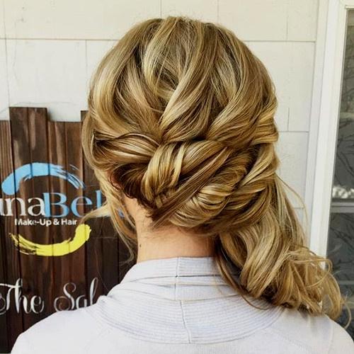 fancy side ponytail updo