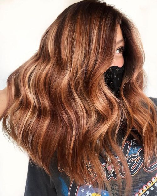 Medium Brown Hair with Highlights and Lowlights