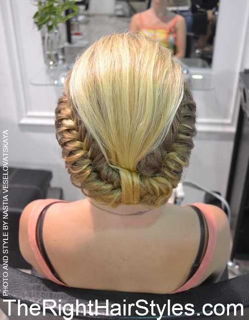 braided vintage updo
