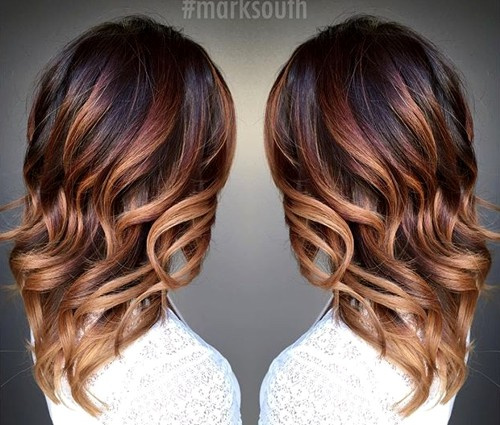 20 cute fall hair colors and highlights ideas caramel ombre highlights for dark brown hair pmusecretfo Choice Image