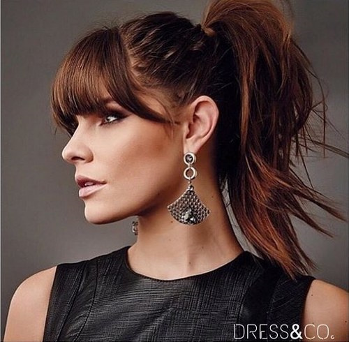 Outstanding 20 Great Ponytails With Bangs Inspiration Ideas Hairstyles For Women Draintrainus