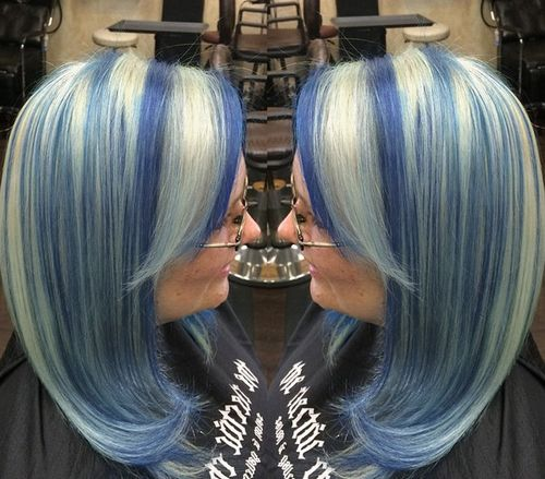 20 pastel blue hair color ideas you have to try silver blonde hair with purple blue highlights pmusecretfo Image collections