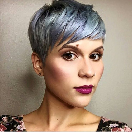 layered pixie haircut with bangs