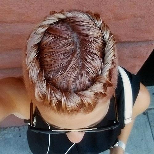 braided undercut hairstyle