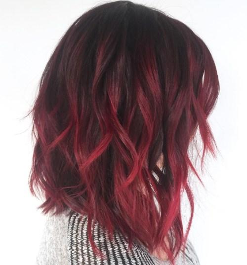 40 on trend balayage short hair looks burgundy balayage on dark hair pmusecretfo Images