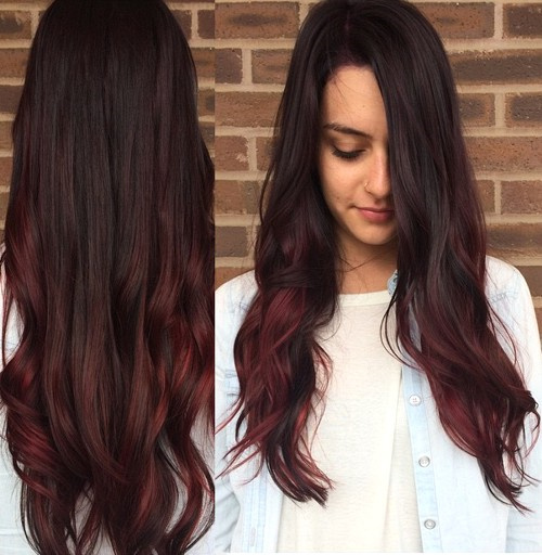 20 cute fall hair colors and highlights ideas cherry coke hair with burgundy highlights pmusecretfo Choice Image